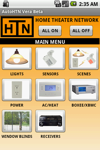AutoHTN Home Screen