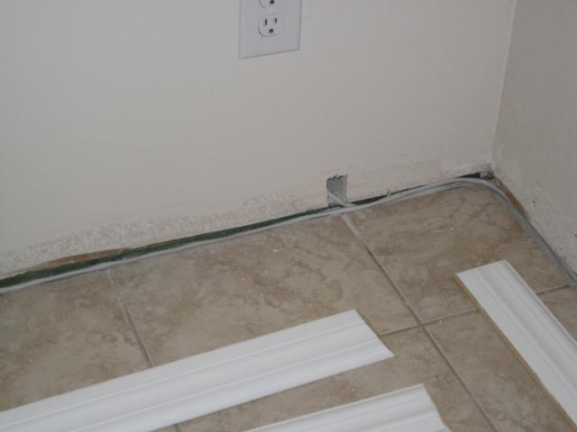 Cables behind Baseboards