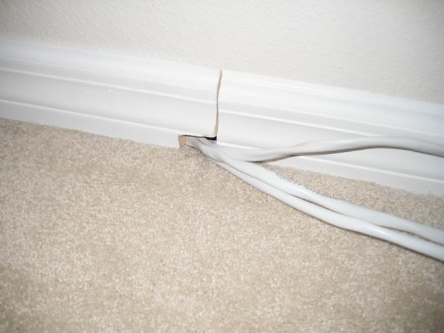 Cables behind Baseboards 2