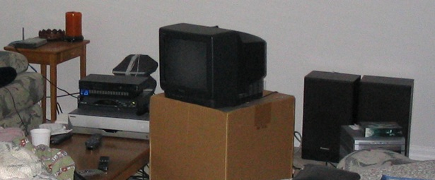 TV on a box